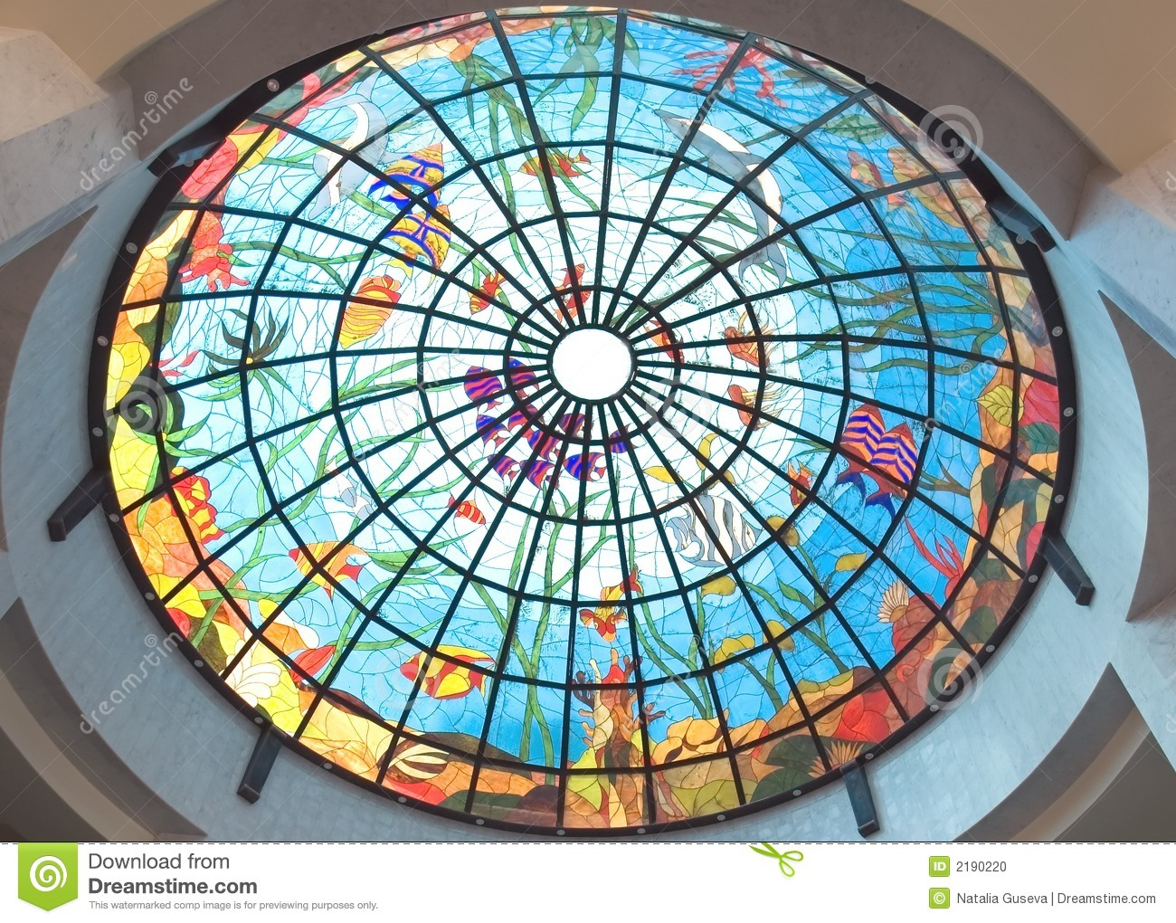 Stained Glass Roof At Hotel Stock Photo Image 2190220