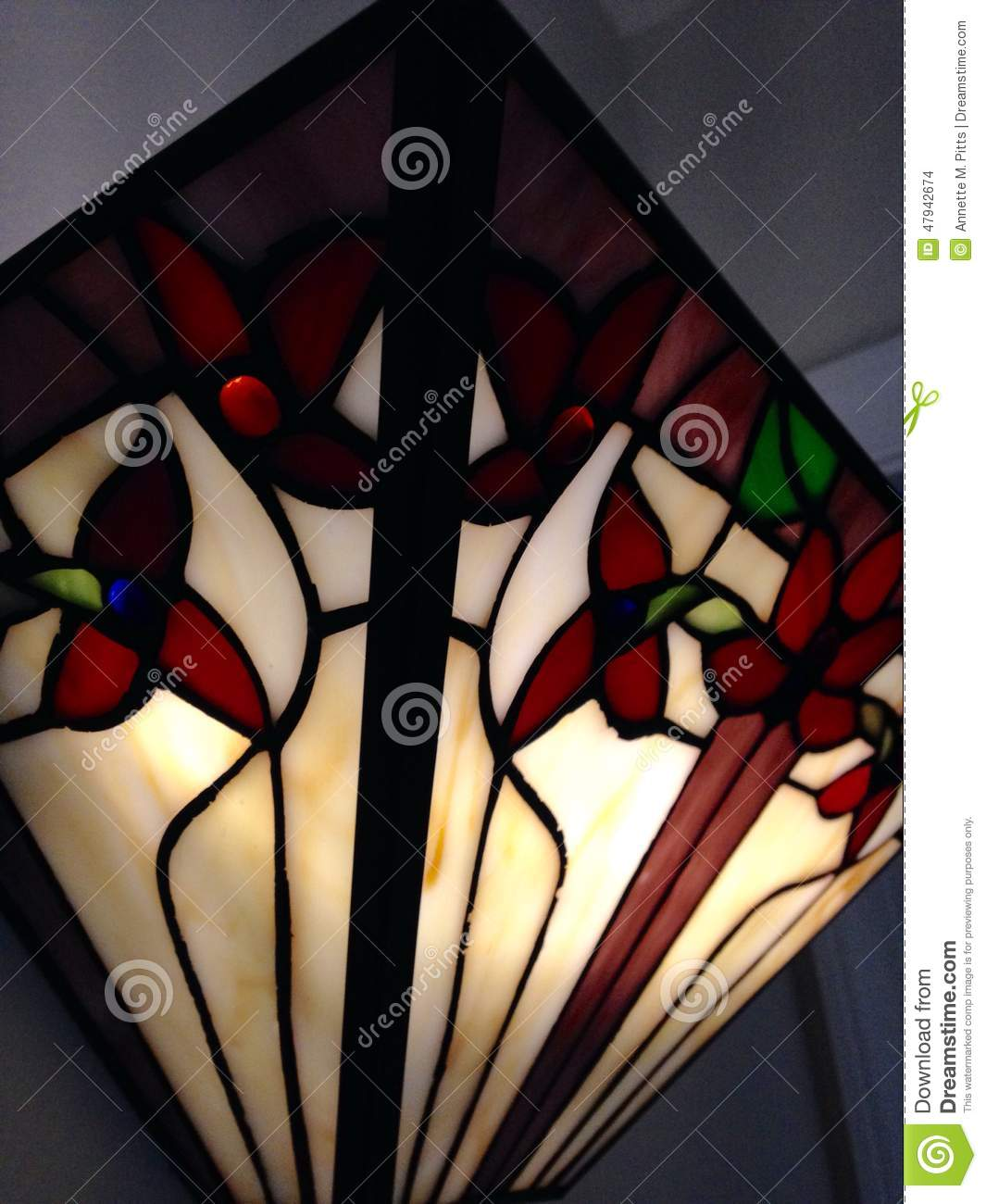 Stained Glass Sconce Stock Photo - Image: 47942674