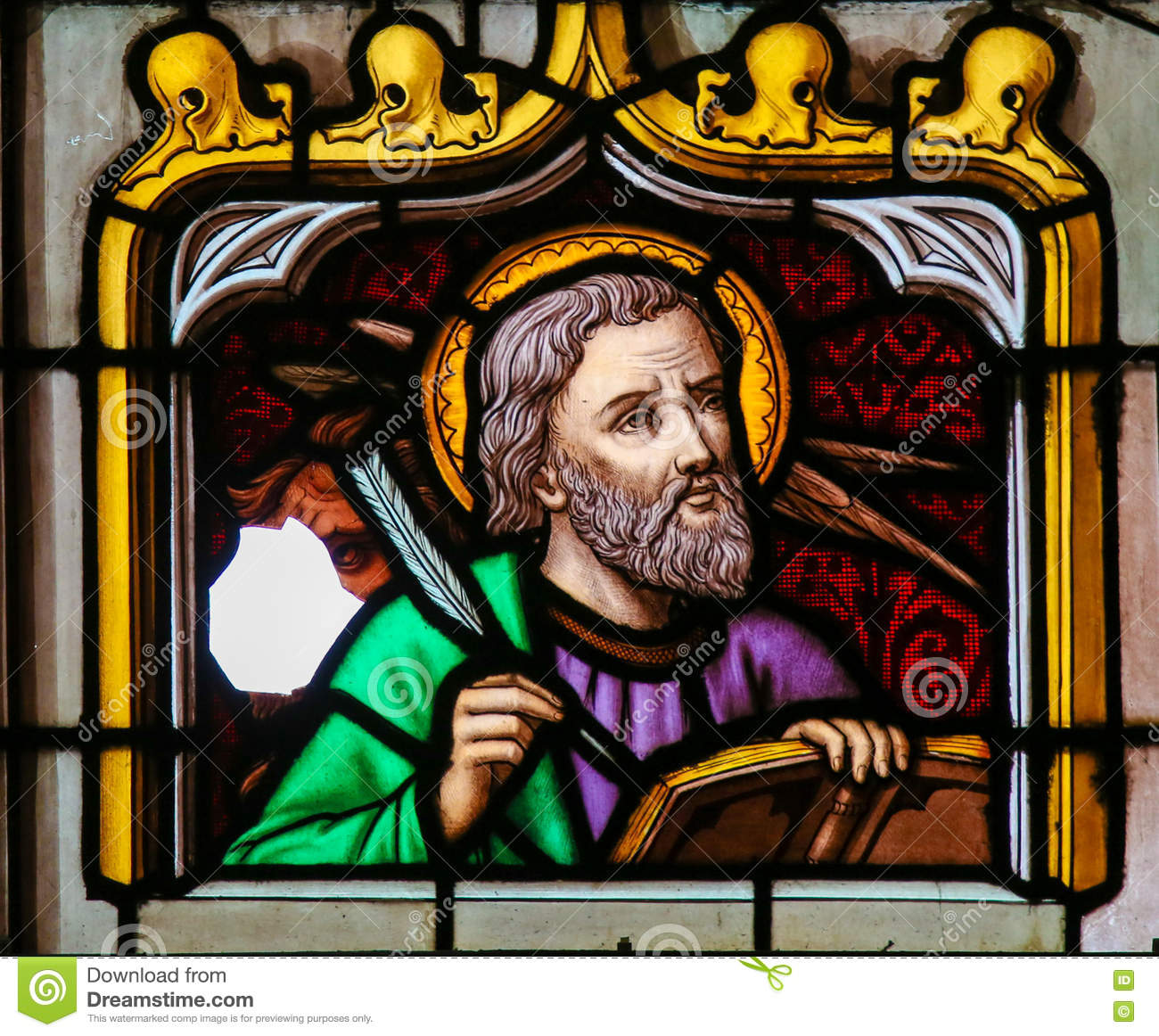 Stained Glass of St Mark the Evangelist