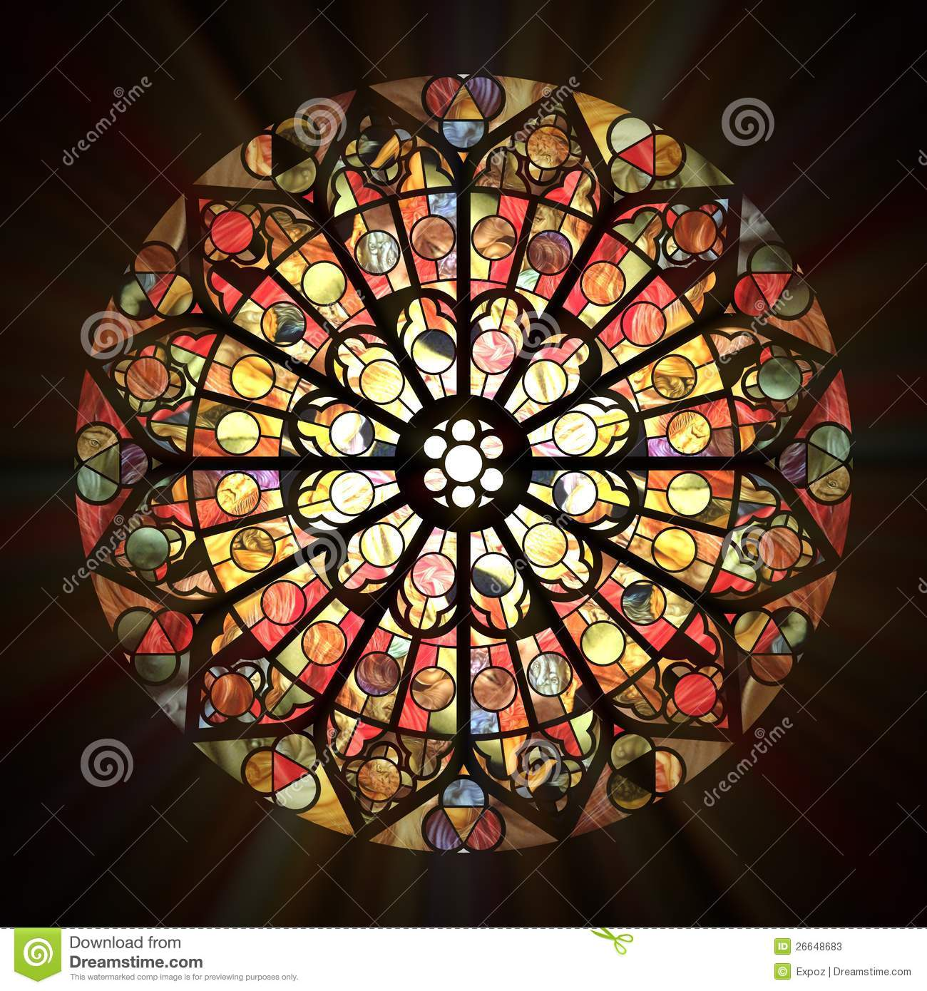 Stained Glass Window Stock Illustration Of David