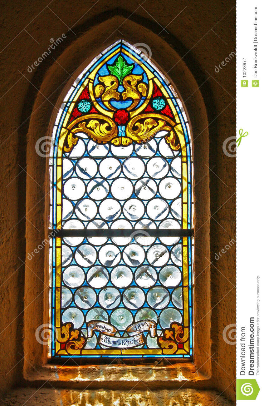 Stained Glass Window Of Church Royalty Free Stock