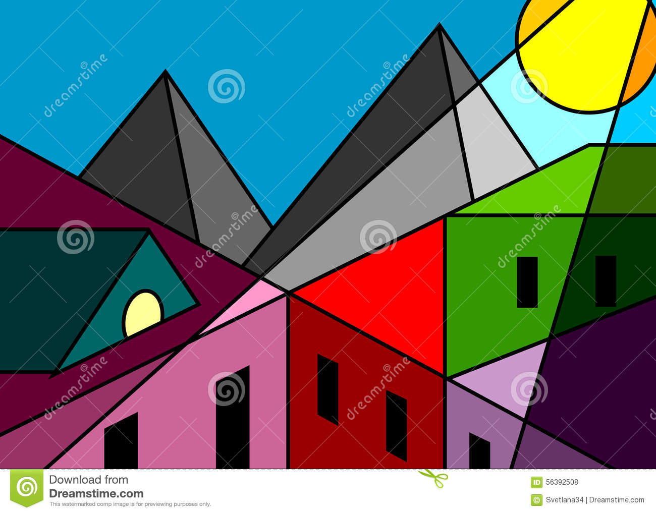 Stock Illustration Stained Glass Window City Roofs Houses Mountain Modern Style Cubism Image56392508 besides Nature Inspired Details Shaping Modern Family Apartment Taiwan further Gorgeous Robins Nest Treehouse Hotel Immerses You In Nature together with Are Modern Women Nightmare Bosses together with The Malaysia Weve Lost. on nature modern houses