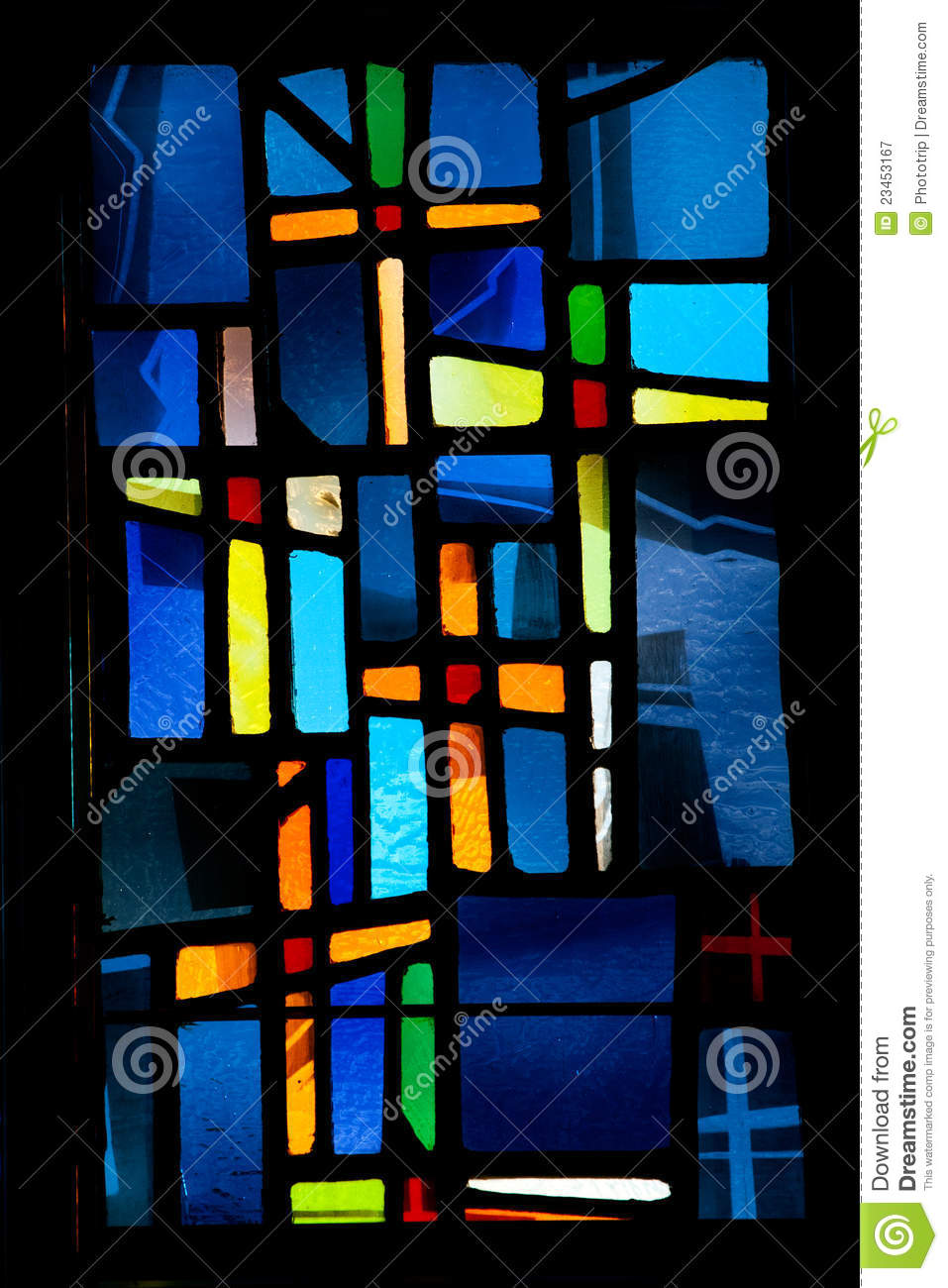 Easter Stained Glass Stained glass window cross