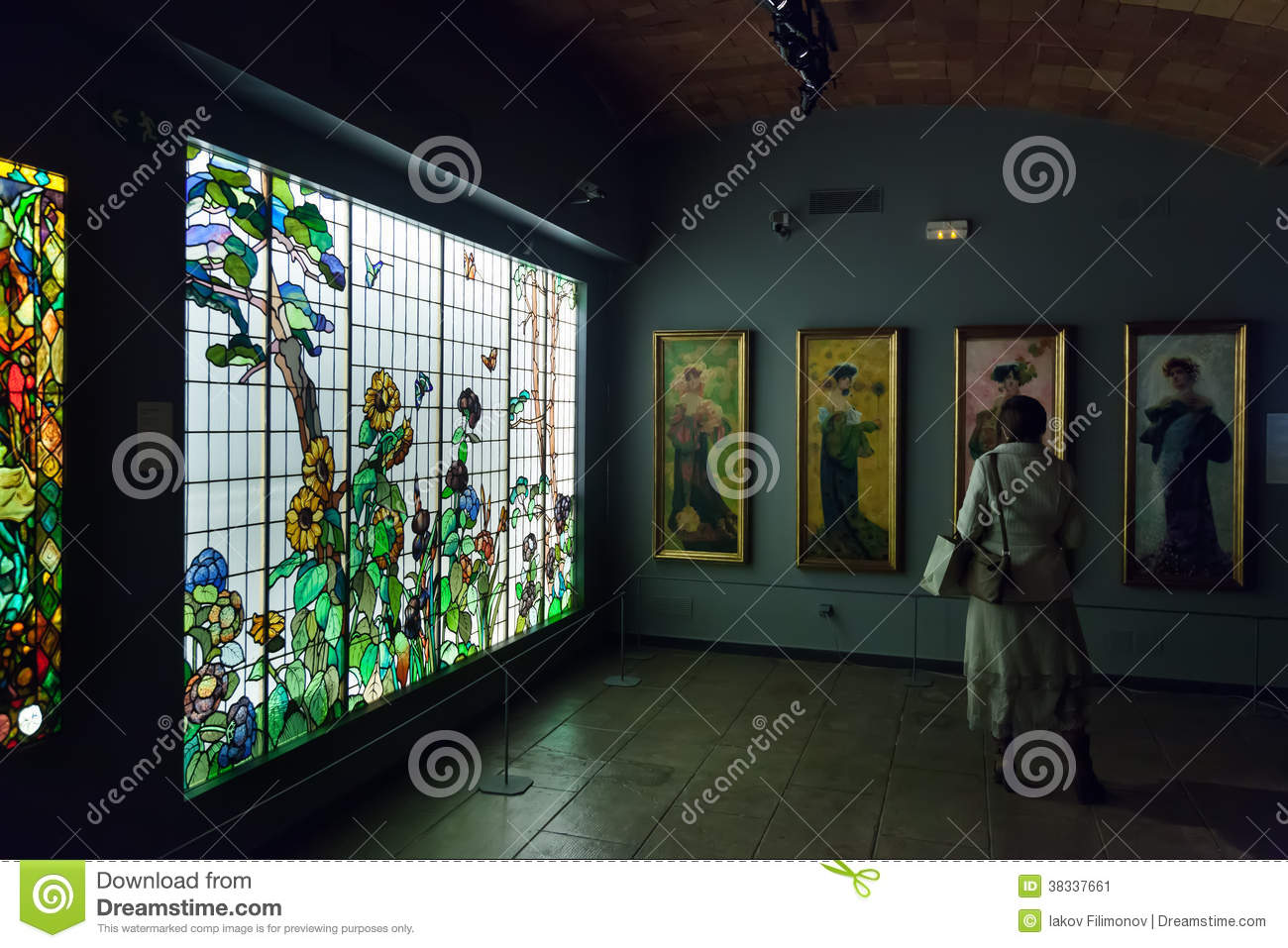 https://thumbs.dreamstime.com/z/stained-glass-window-interior-museum-catalan-modernism-barcelona-spain-january-modernisme-barcelona-catalonia-38337661.jpg
