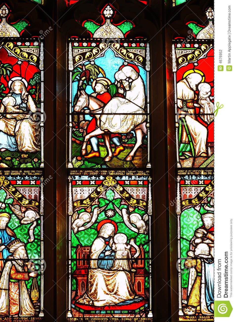 stained glass window panels stock photography image 4676952
