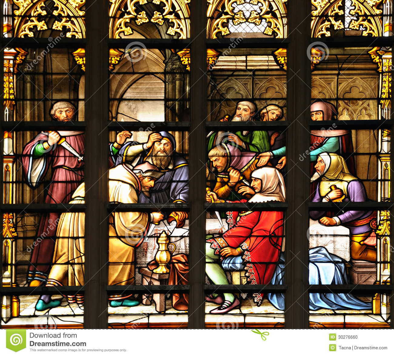 https://thumbs.dreamstime.com/z/stained-glass-window-scene-medieval-plot-january-brussels-scene-decorates-interior-cathedral-st-michael-30276660.jpg
