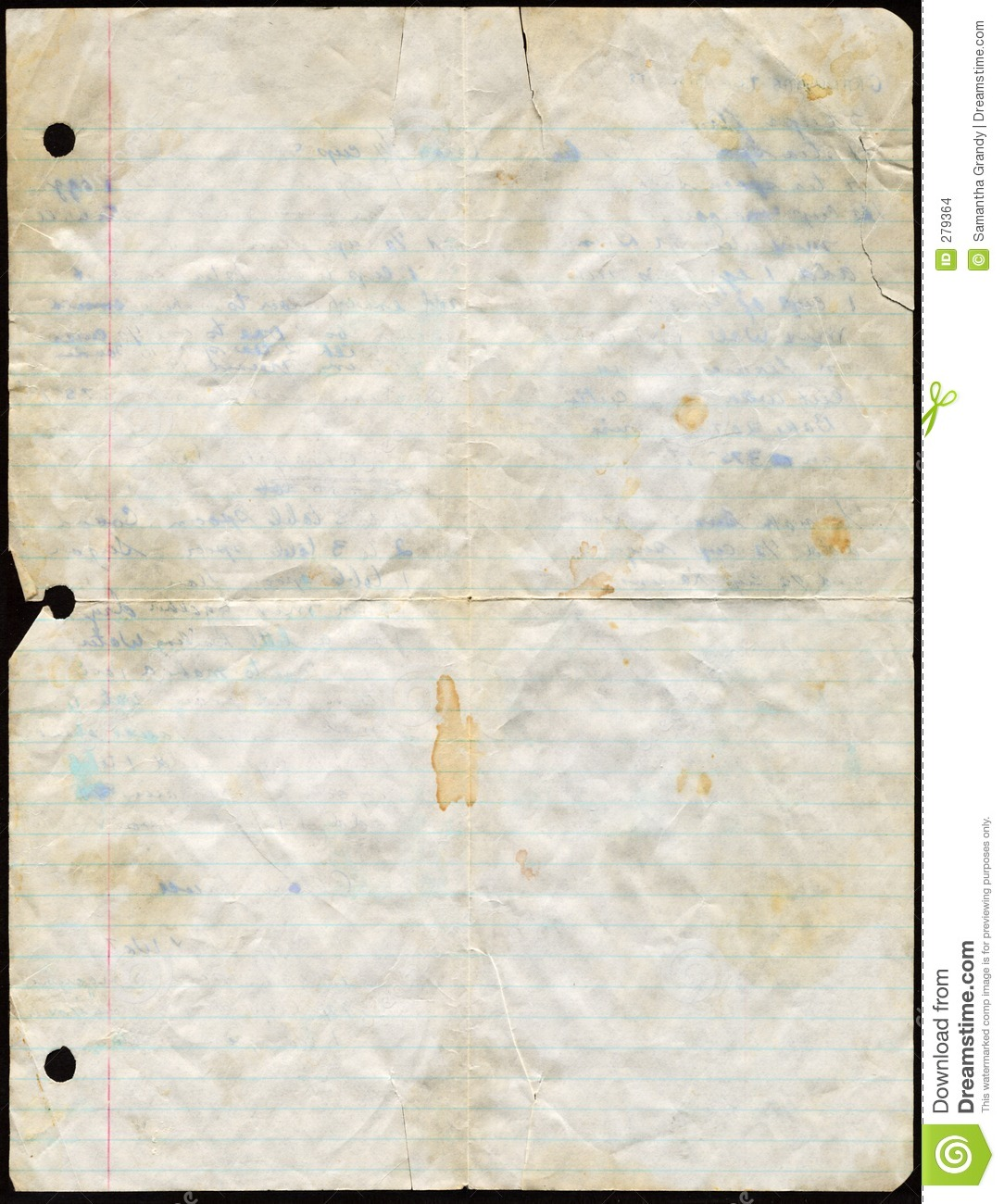 Stained Loose Leaf Paper Stock Images Image 279364