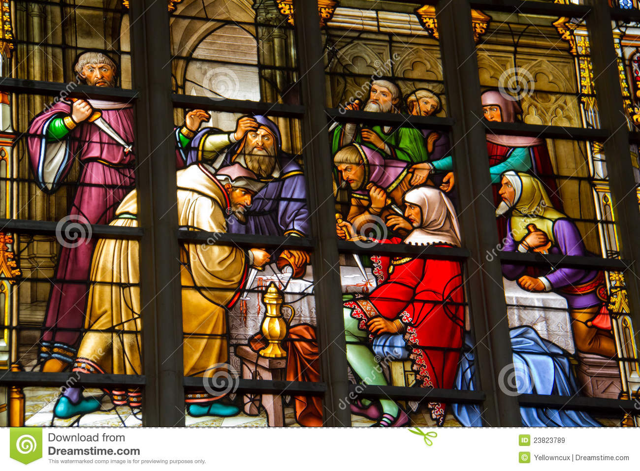 Stained window in cathedral