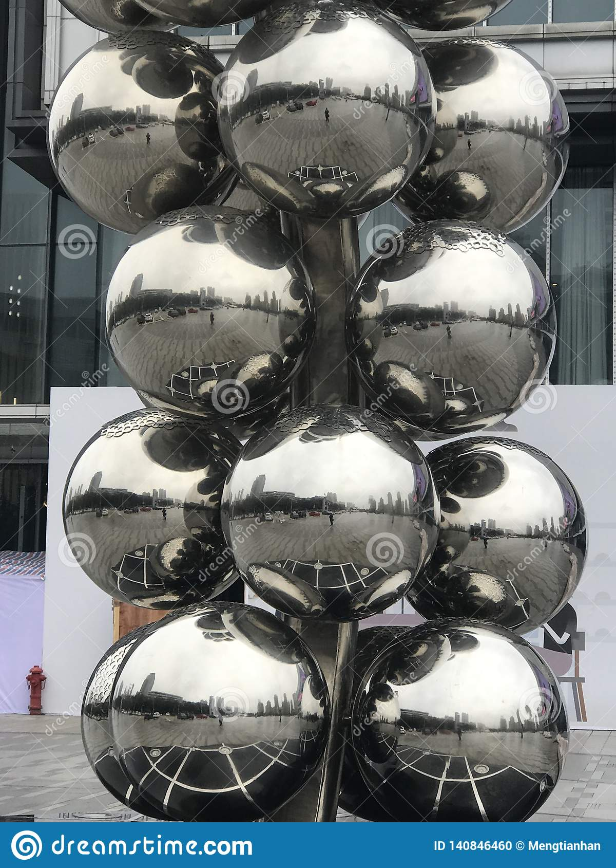 Stainless steel ball sculpture decoration