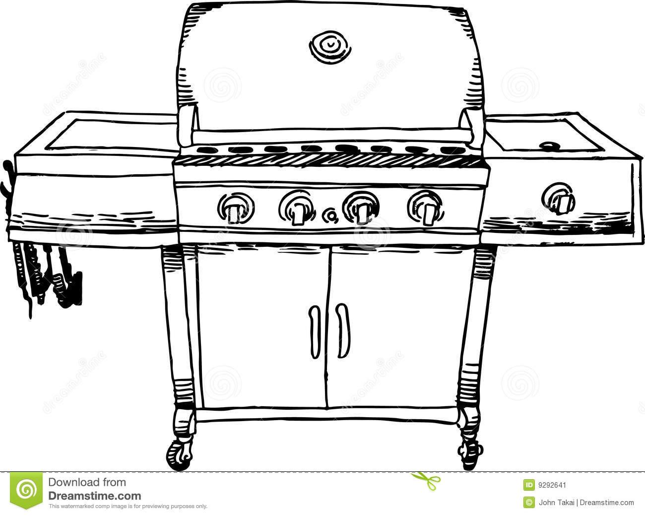 Stainless steel barbeque bbq grill b amp w stock image image