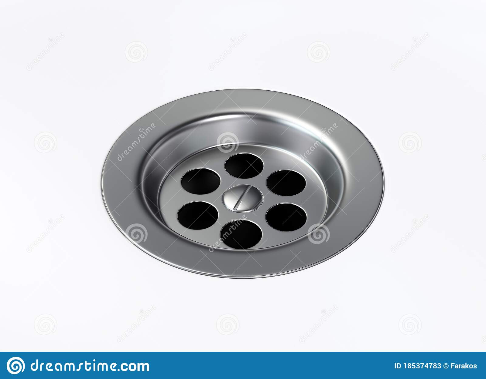 Stainless Steel Bathroom Sink Hole On White Background Stock Illustration Illustration Of Closeup Clean 185374783