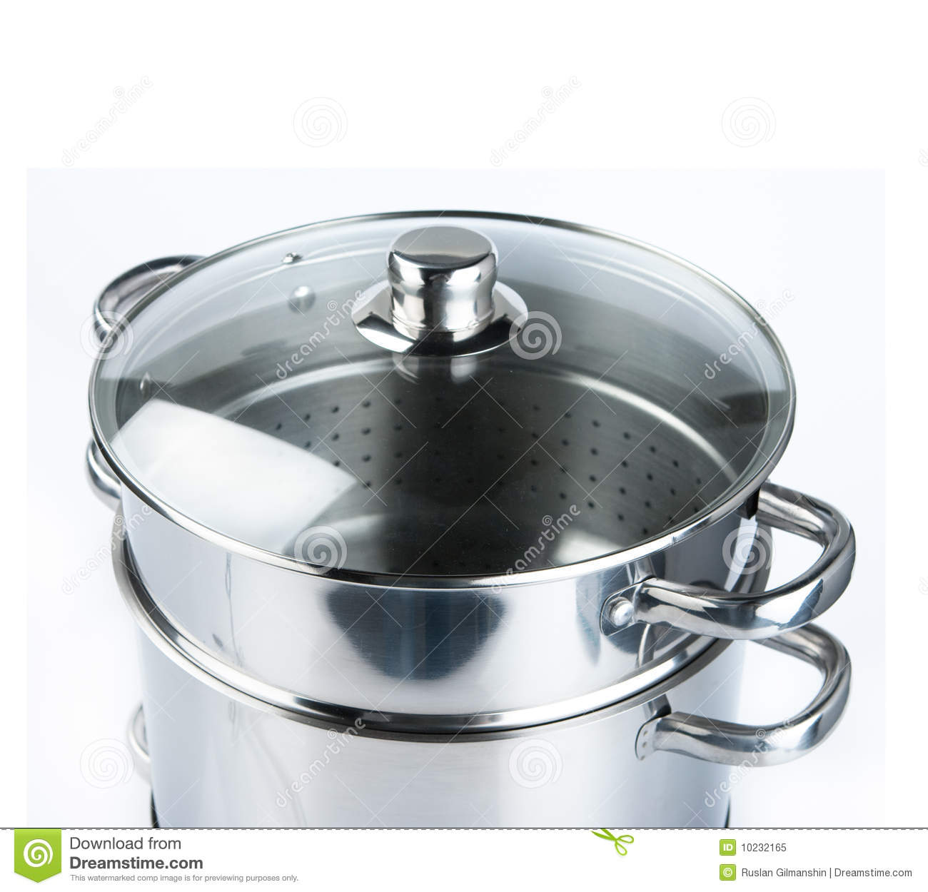 stainless steel cooking pots royalty free stock photo image 10232165. Black Bedroom Furniture Sets. Home Design Ideas