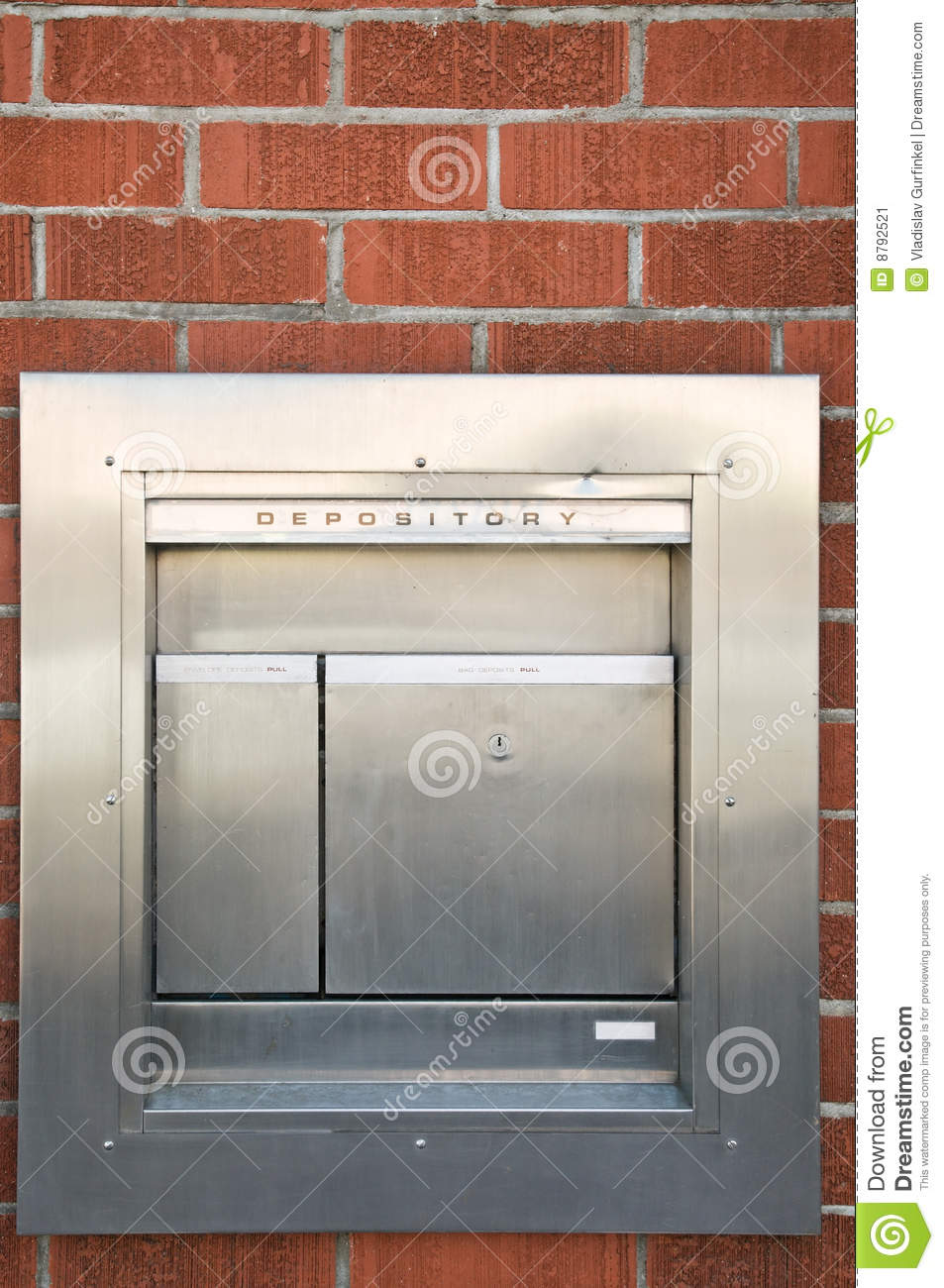 Stainless Steel Depository Box Stock Image Image 8792521