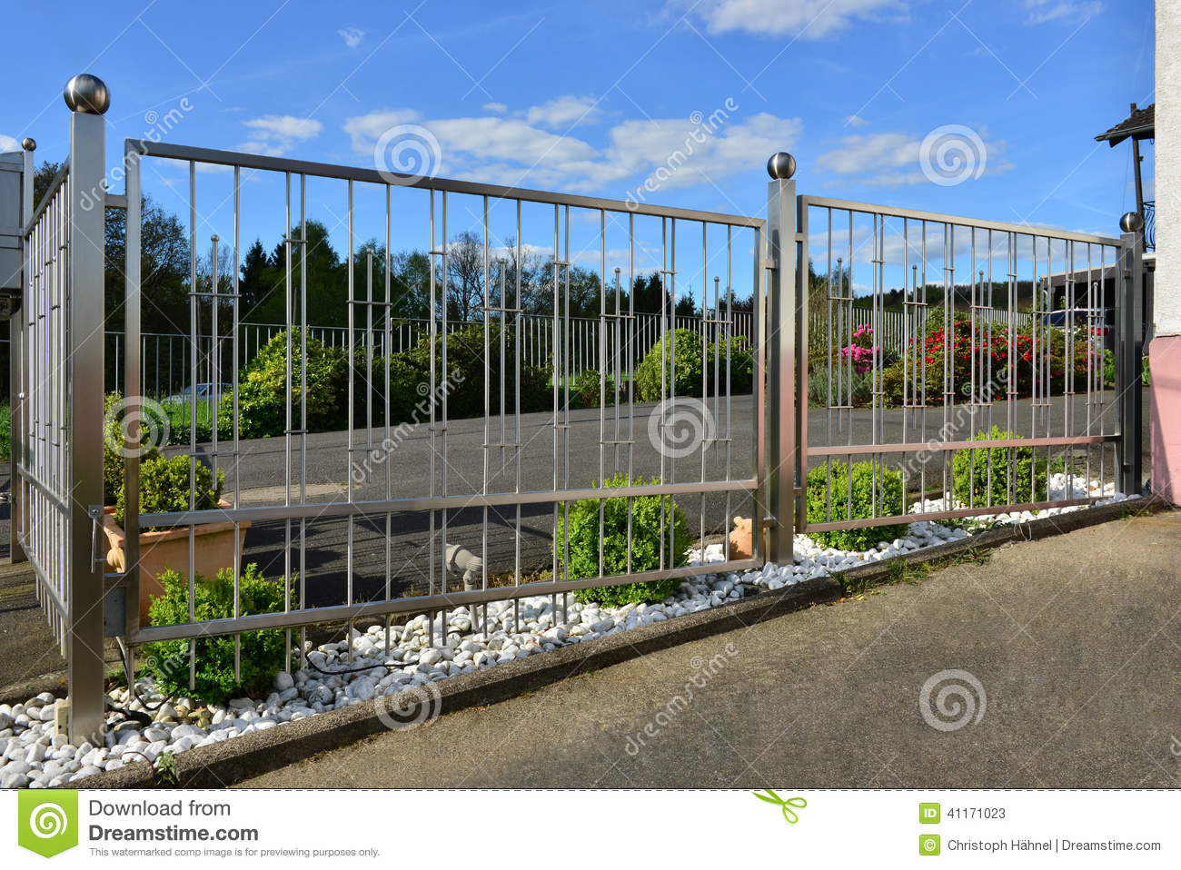 Stainless Steel Fence Stock Image Image Of Stainless