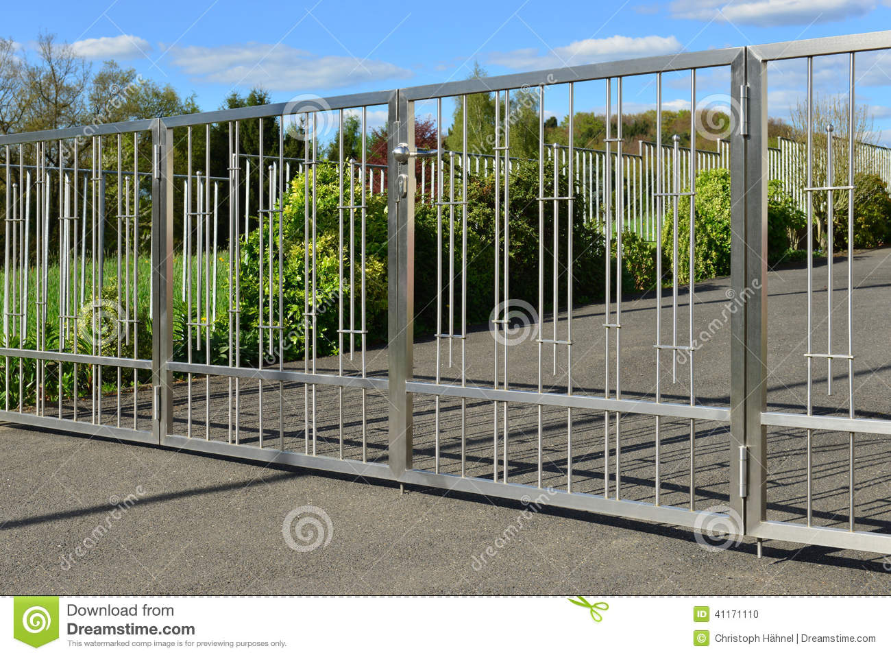 Stainless steel fence stock photo image 41171110 for Attractive garden fencing