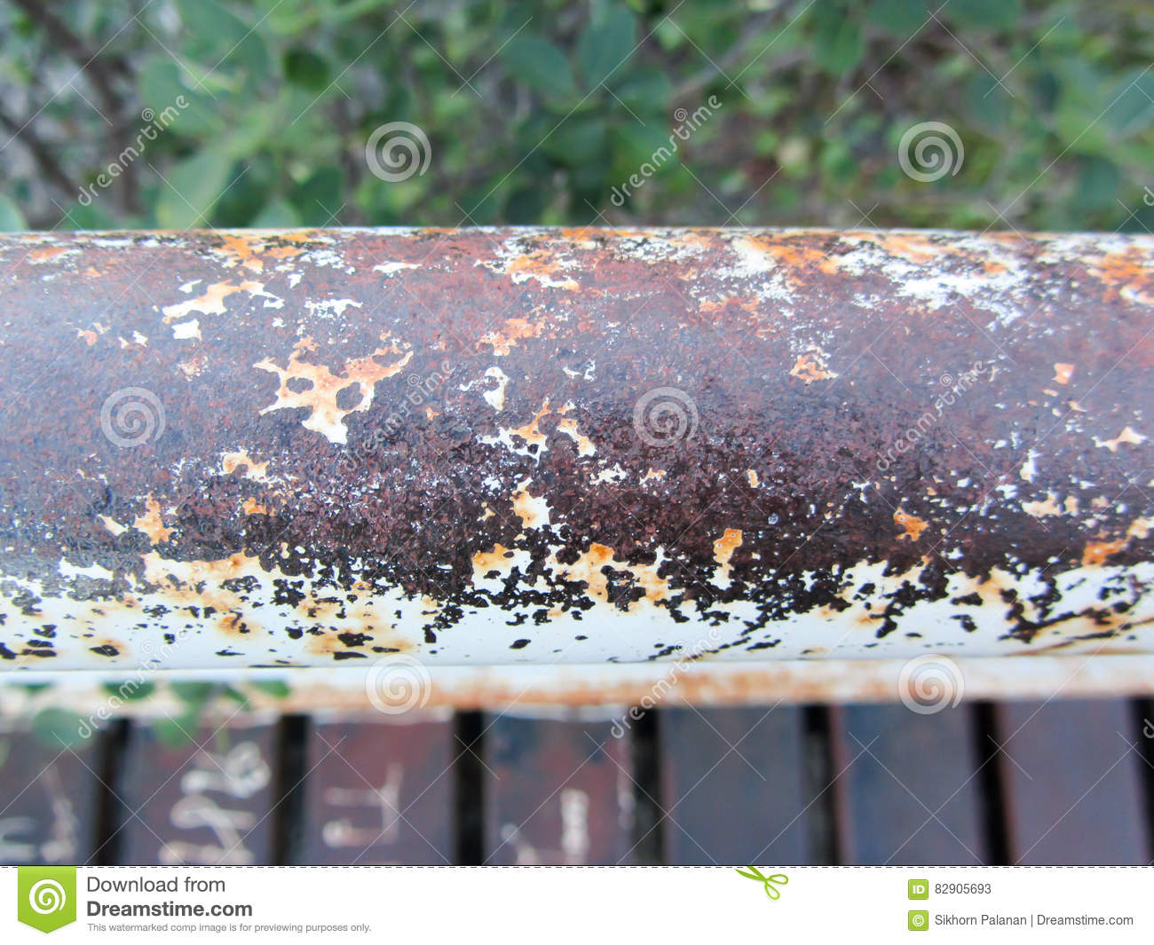 Stainless Steel Handles Rusty Stock Image Image Of