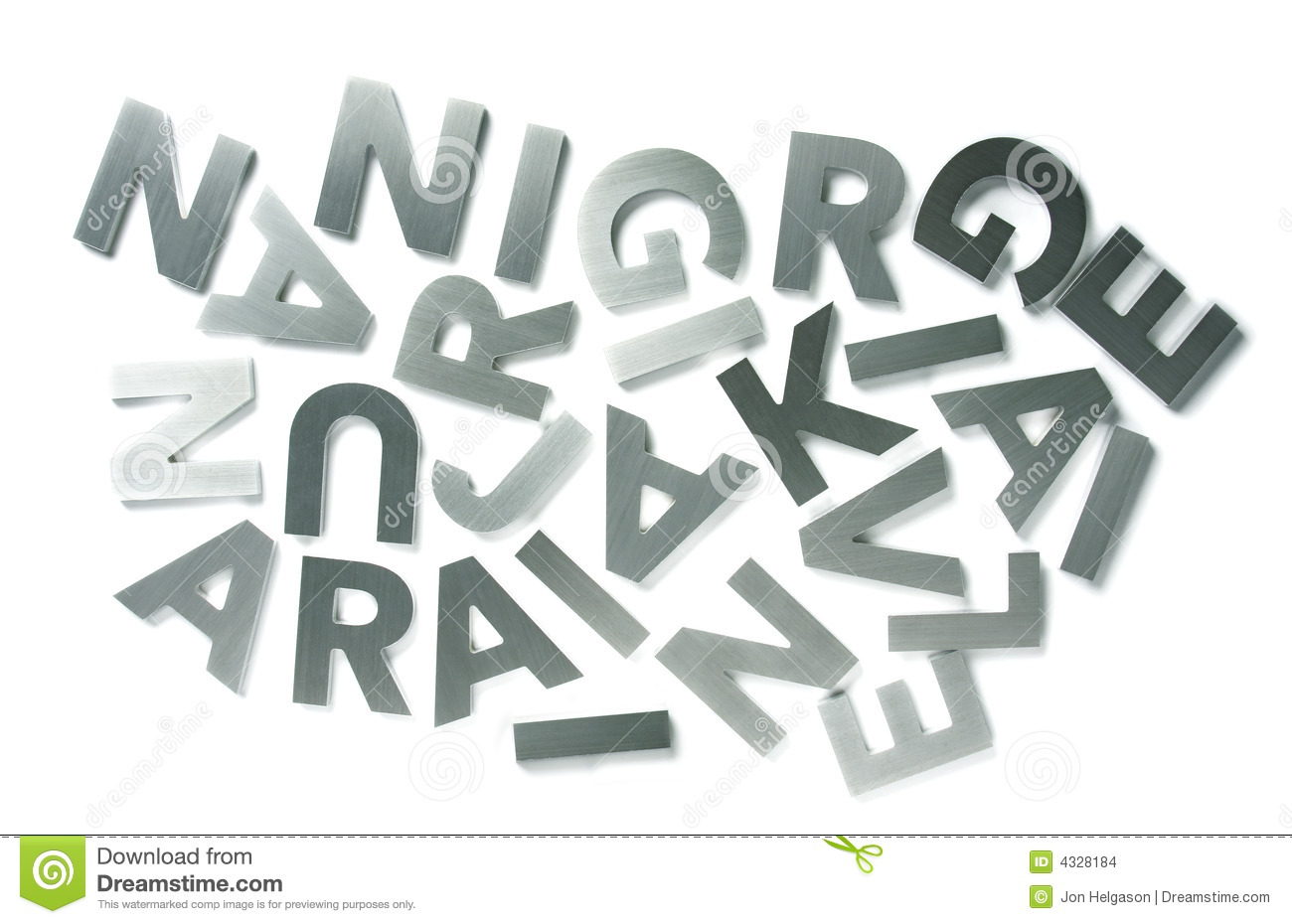 Stainless steel letters stock images image 4328184 for Stainless steel letters buy online