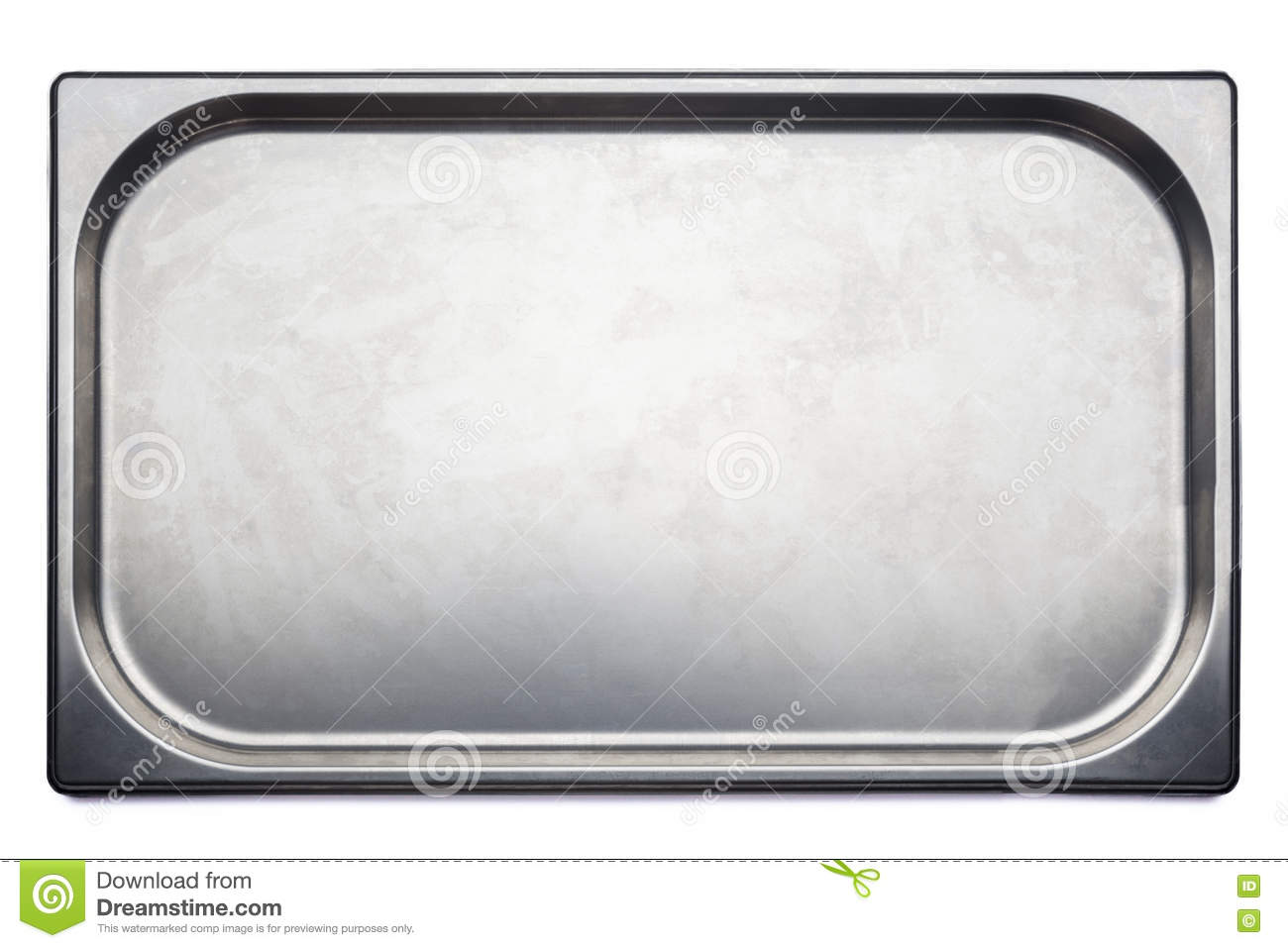 Stainless Steel Medical Tray On White Background Stock Image - Image ...
