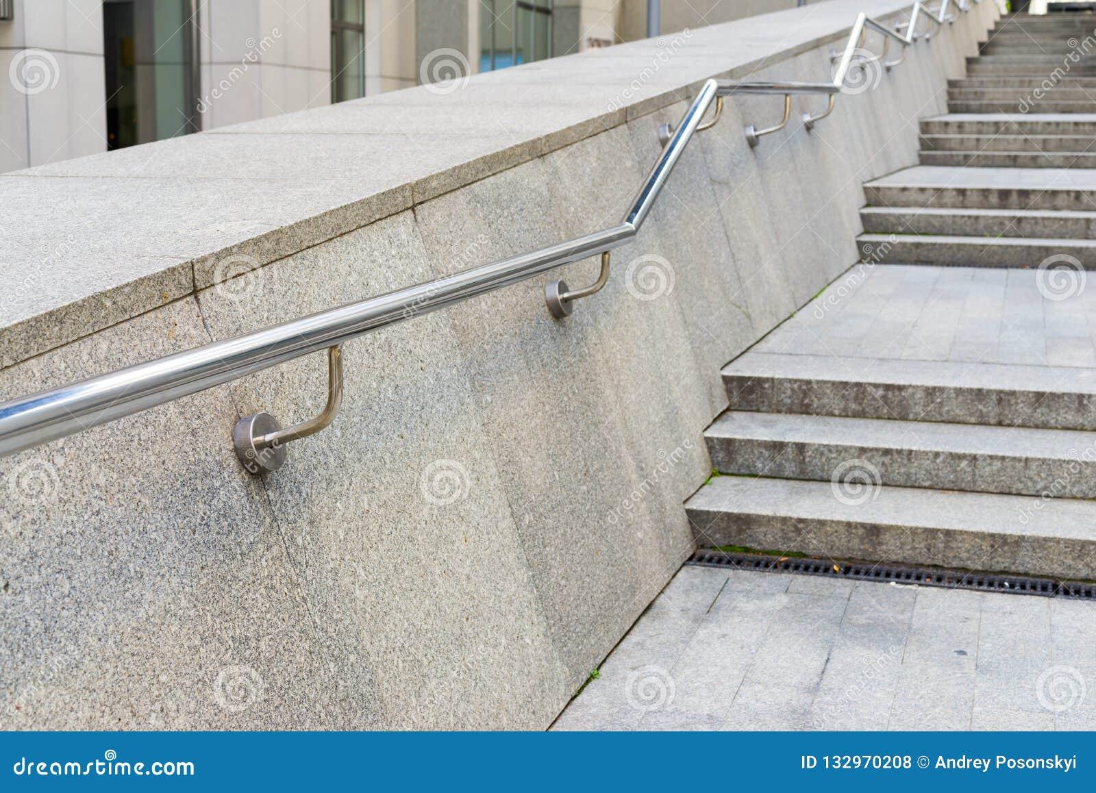 Stainless steel metal handrails