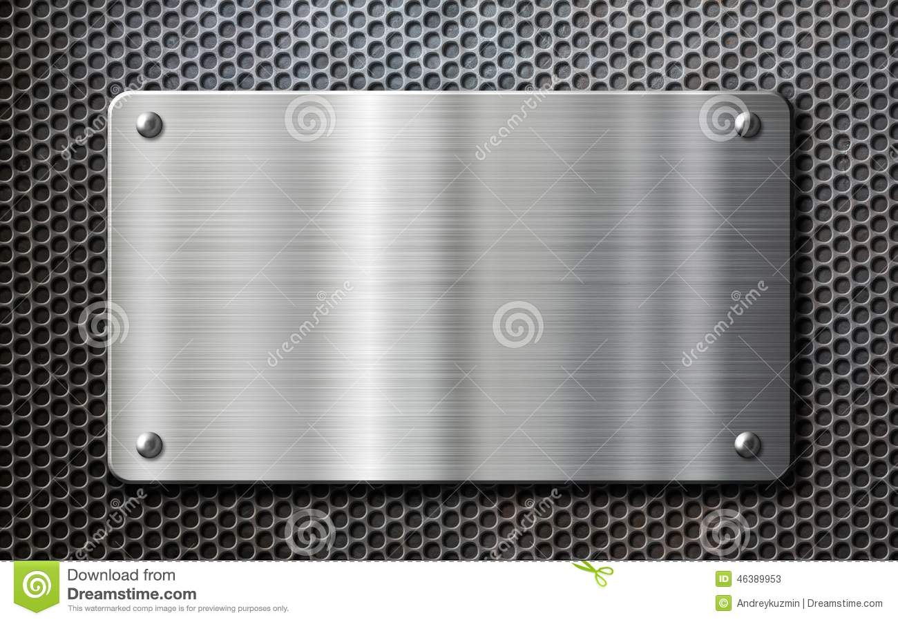 Stainless Steel Metal Plate Background Stock Photo Image