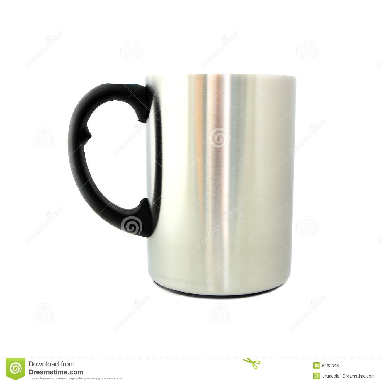 Download Stainless steel mug stock photo. Image of stainless, macro - 6363346