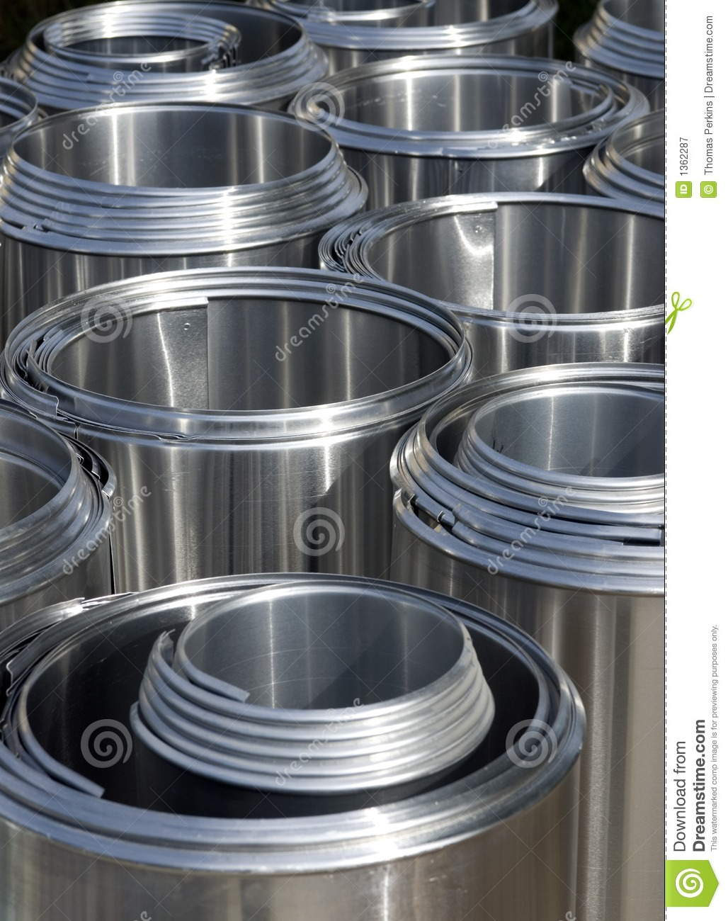 Aluminum Pipe Insulation : Stainless steel pipe insulation covers stock image
