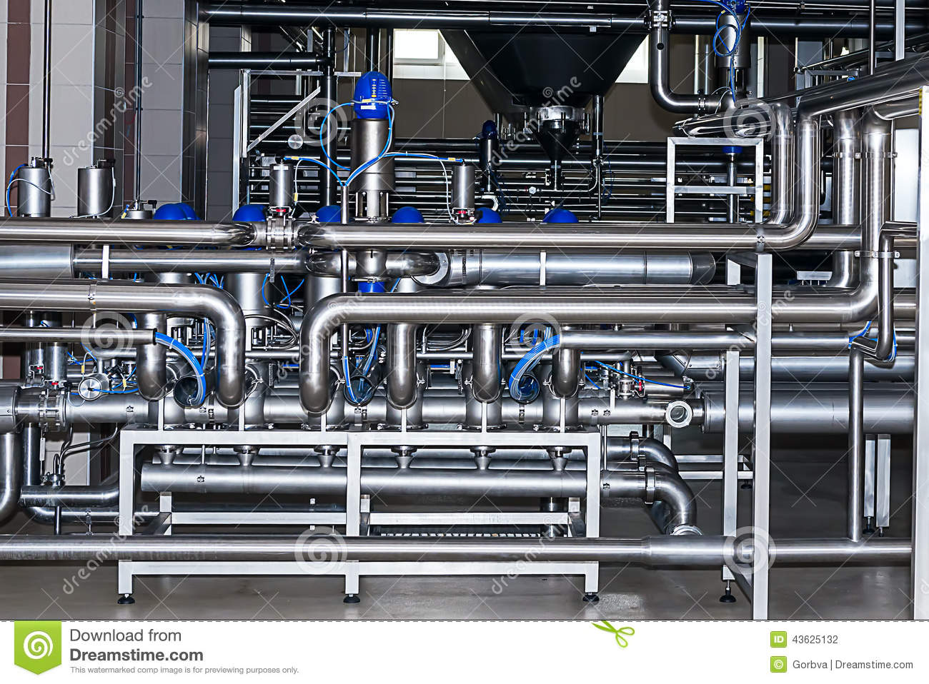 Stainless Steel Piping Stock Photo Image 43625132