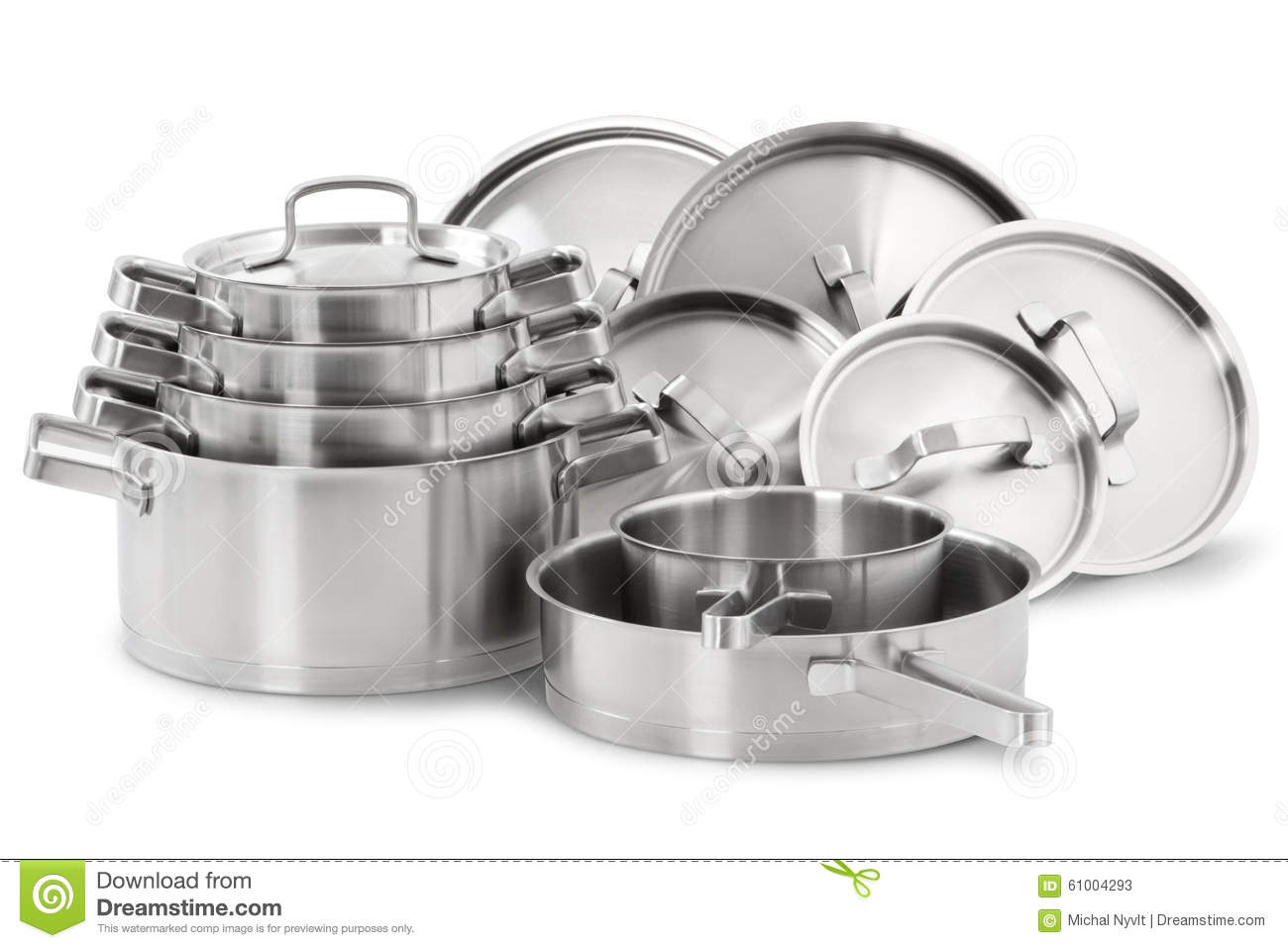 Stainless steel cookware stock photography cartoondealer