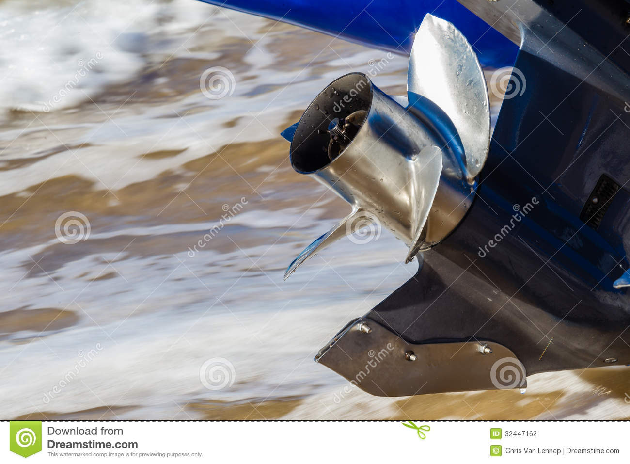 Stainless steel prop outboard motor stock photography for Fin for boat motor
