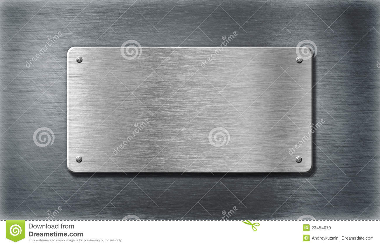 Stainless Steel Silver Metal Plates Stock Photo - Image: 23454070
