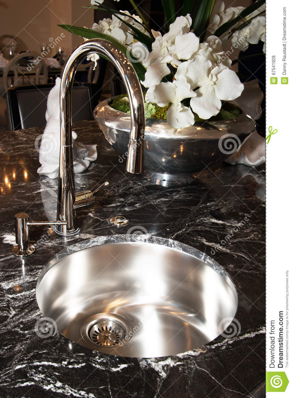 Stainless Steel Sink And Faucet Stock Photo - Image of soap ...