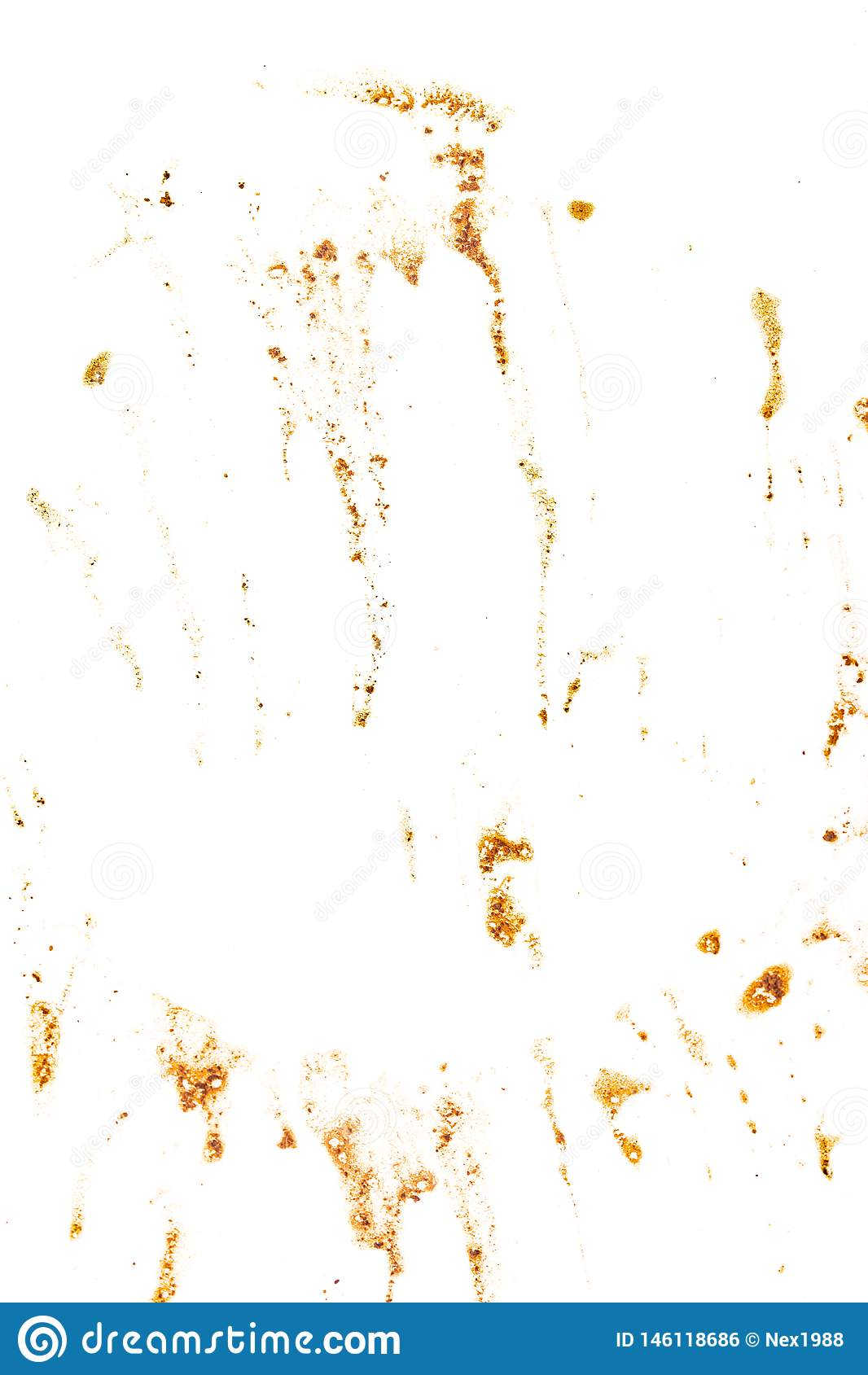 Stains from coffee on a white background