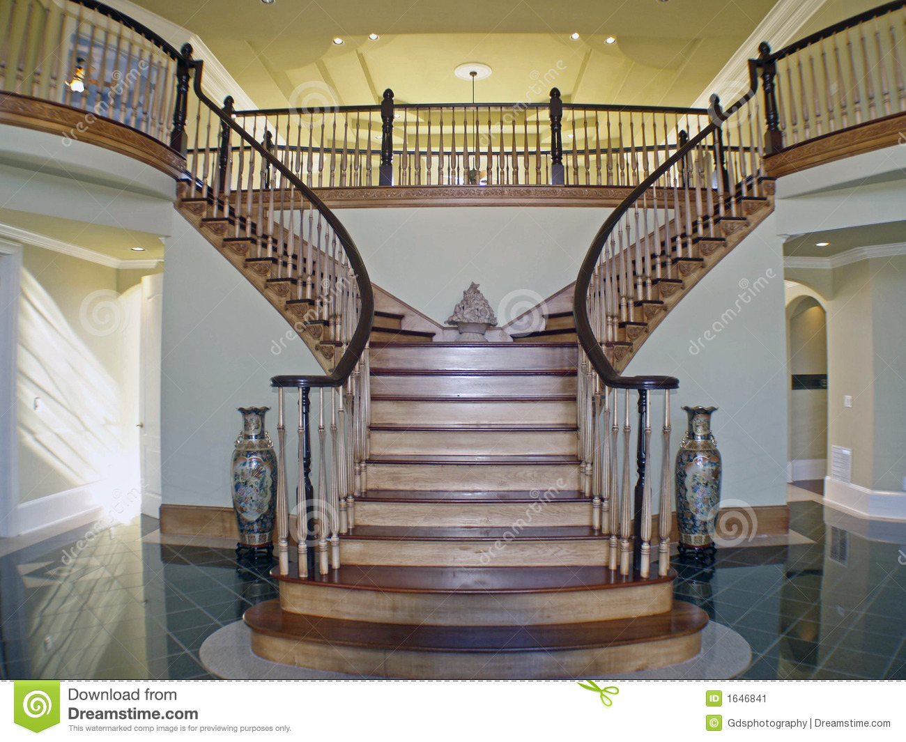 Stair Case Foyer Stock Image Image 1646841