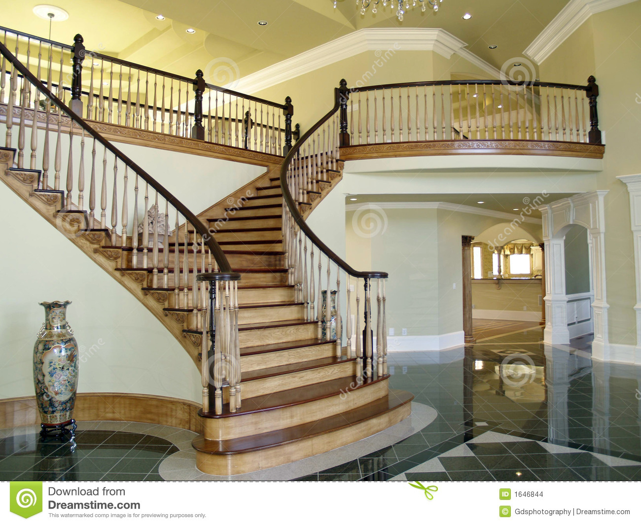 Stair Case Foyer Stock Images Image 1646844