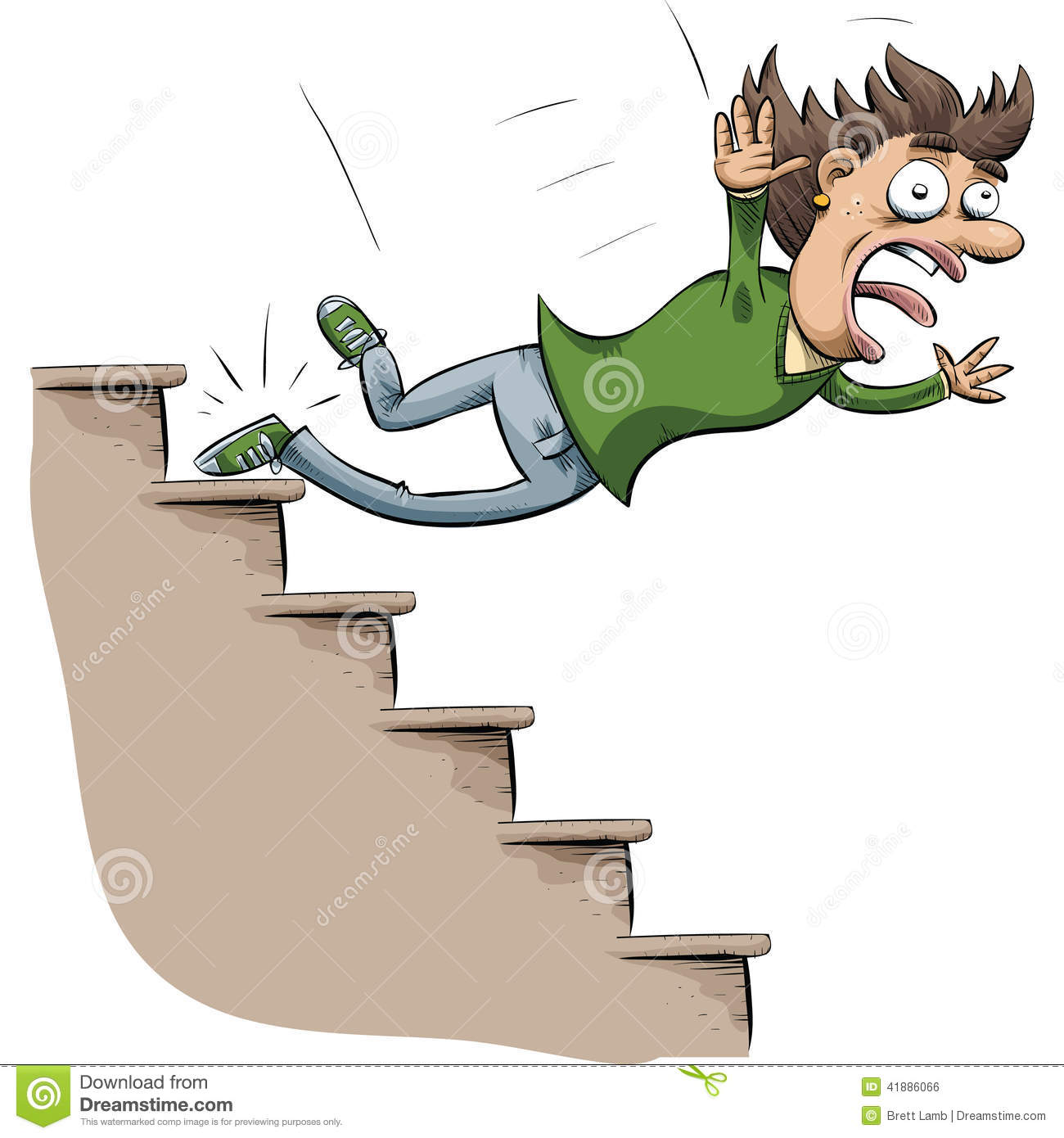 Stair Fall Stock Illustration Of Scream