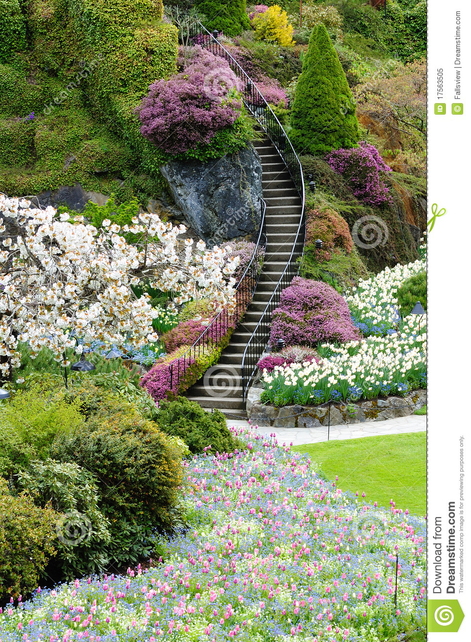 Free Beautiful Garden Wallpapers: Stair In Garden Royalty Free Stock Photo