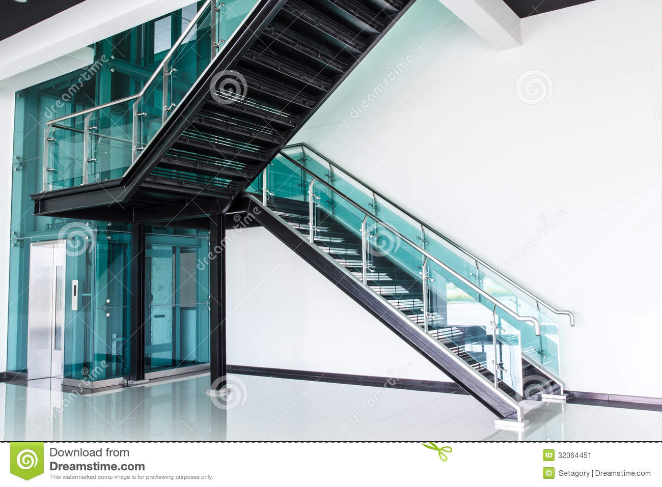 Stair Stock Image Image Of Modern Contemporary Wide