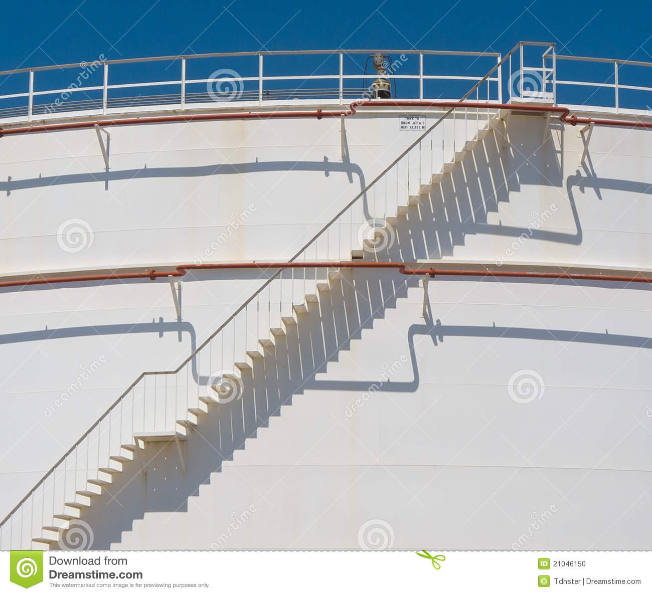 Stair At Oil Tank Stock Photo Image 21046150