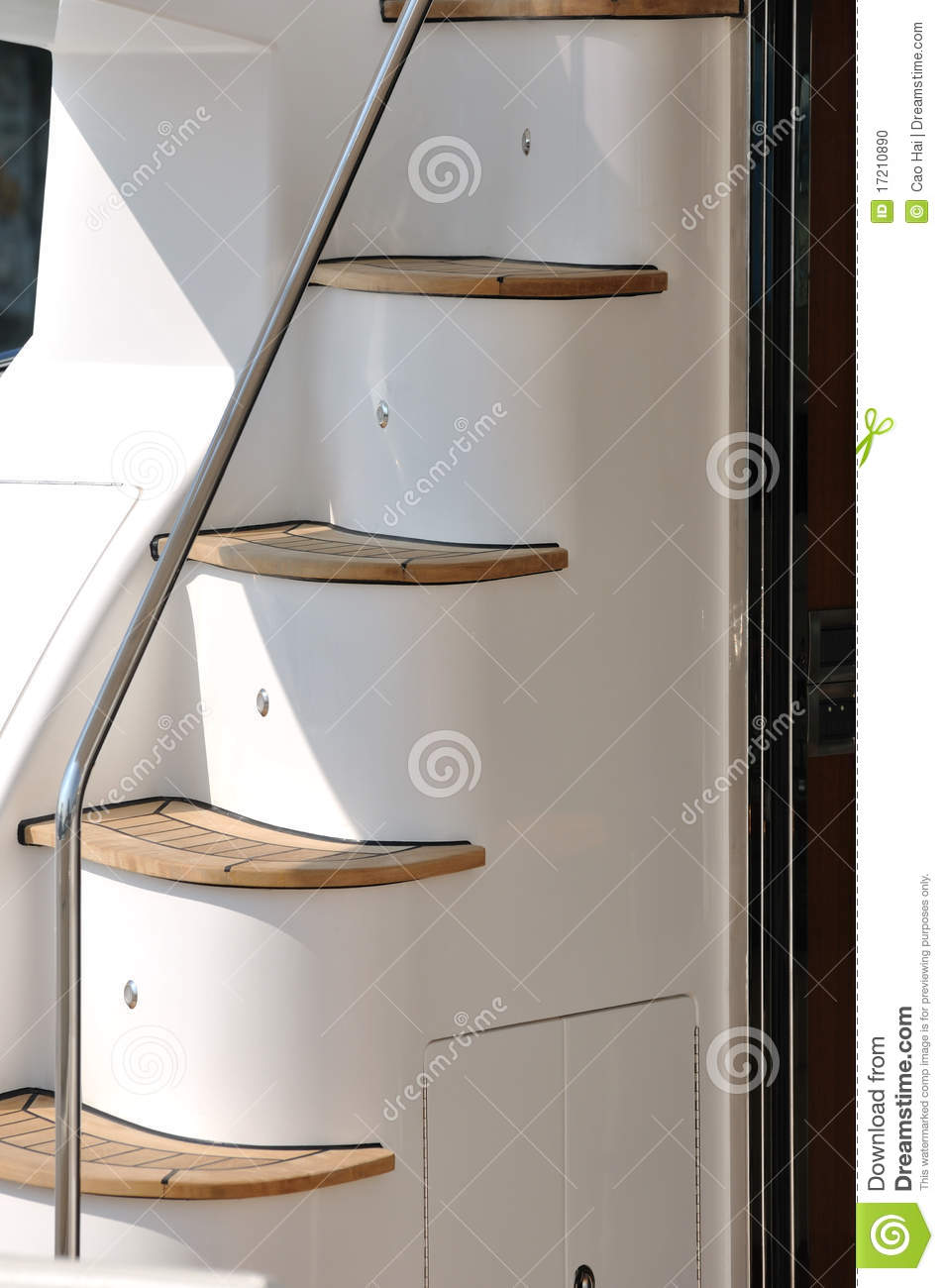 Stair of yacht in detail stock photo  Image of marine - 17210890