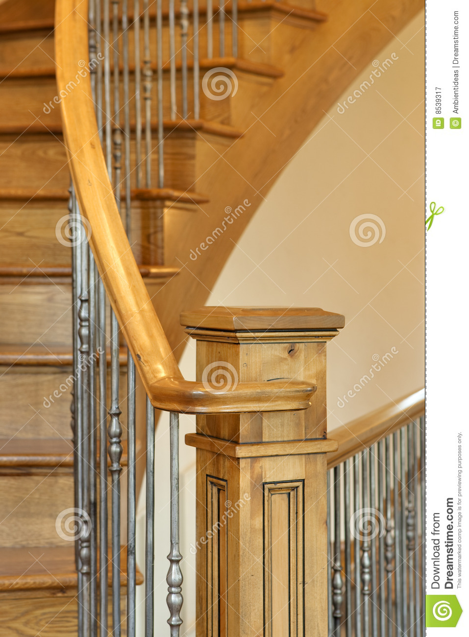 Staircase Banister Close Up Stock Image Image 8539317