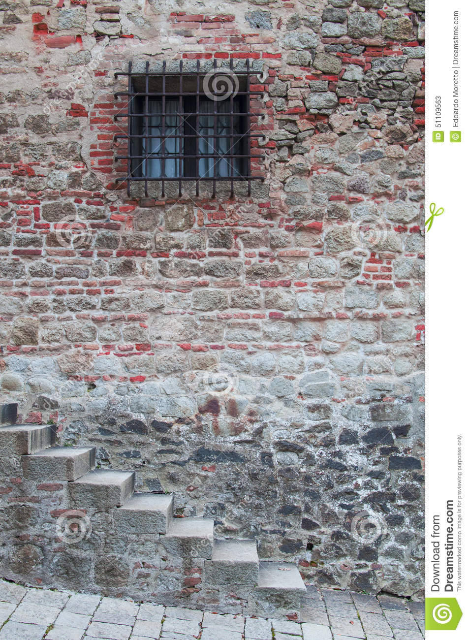 Staircase On The Brick Wall Stock Photo Image 51109563