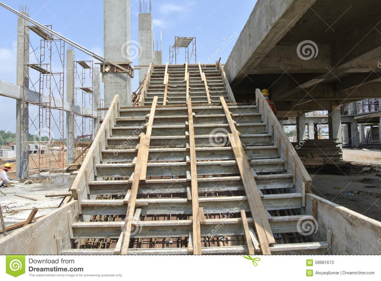 Royalty Free Stock Photo. Download Staircase Formwork At The Construction  ...