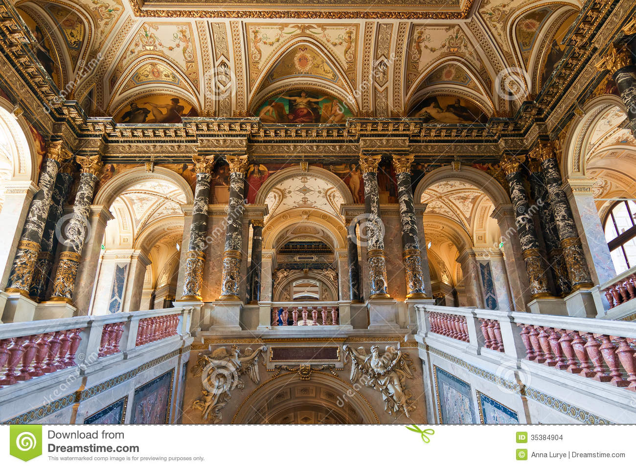Staircase In Kunsthistorisches Museum Stock Images Image