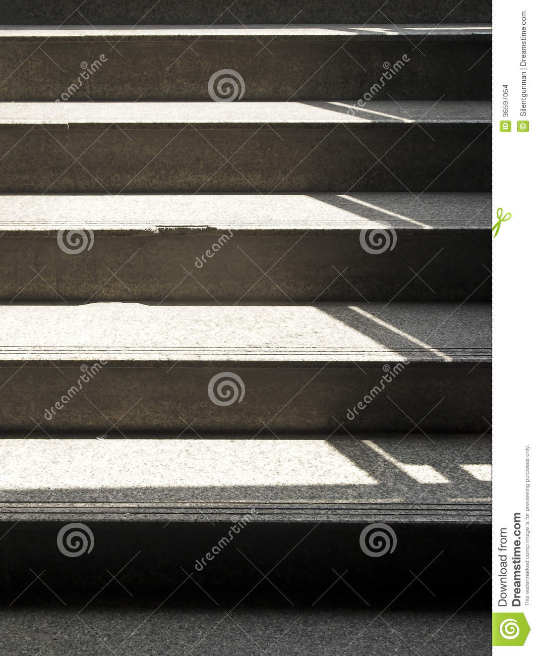 Shadow Gap Staircase Lighting: Staircase In Light Stock Photo. Image Of Steps, Concept