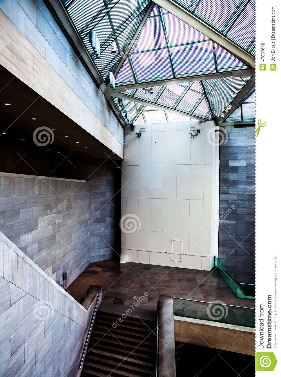 Staircase And Modern Architecture Inside The East Building Of Th