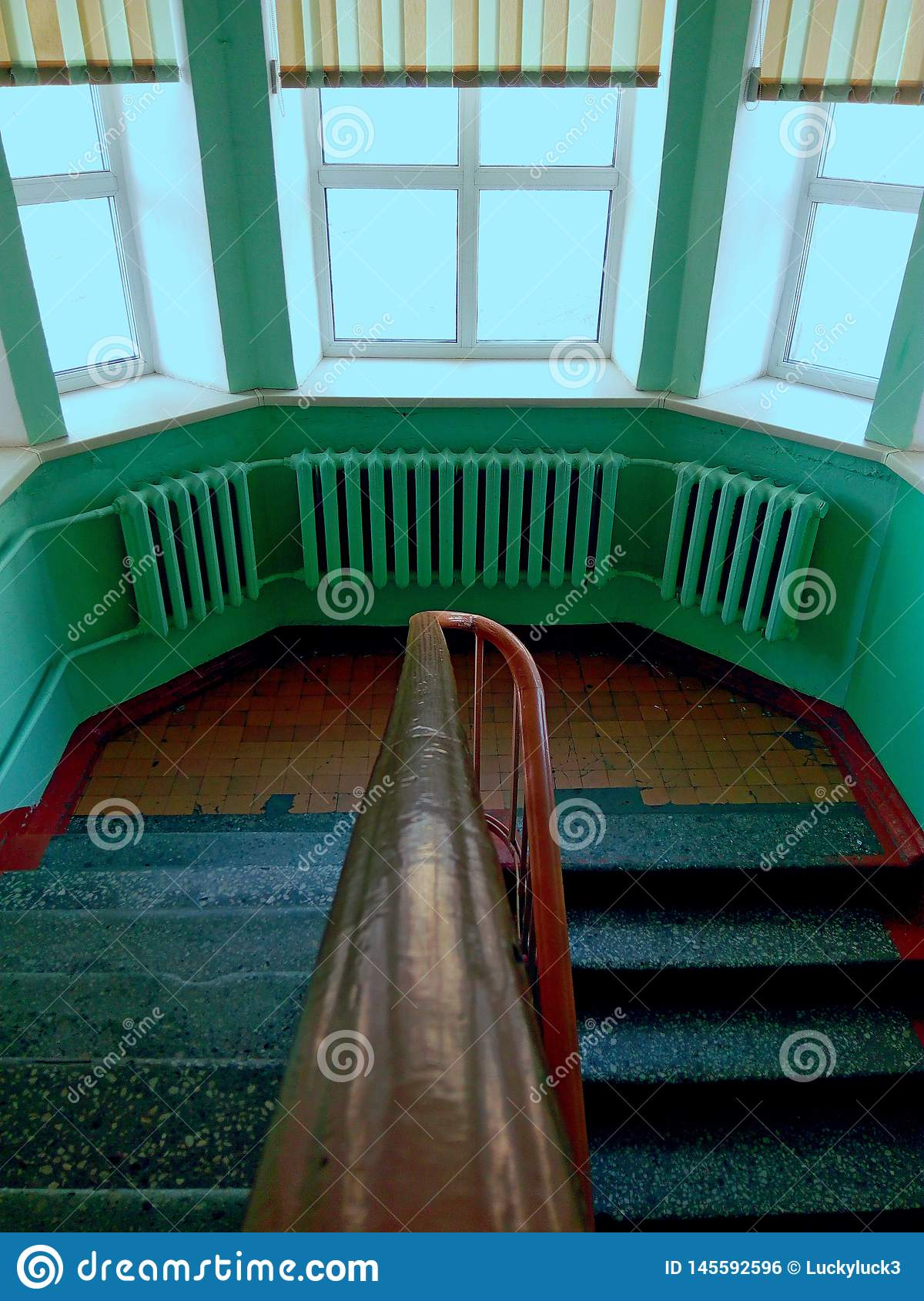 Staircase of an old orphanage.
