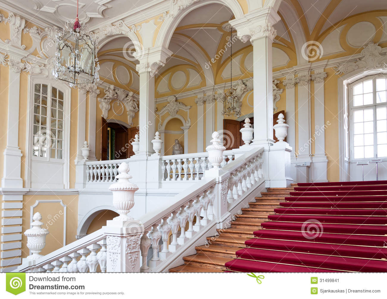 Staircase in palace