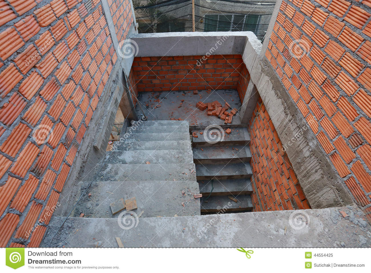 Royalty Free Stock Photo. Download Staircase In Residential Building  Construction ...