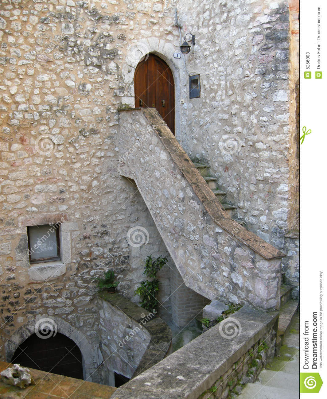 Staircase to door