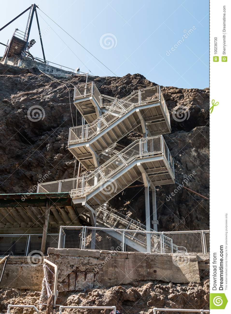 Staircase to Anacapa Island in Southern California